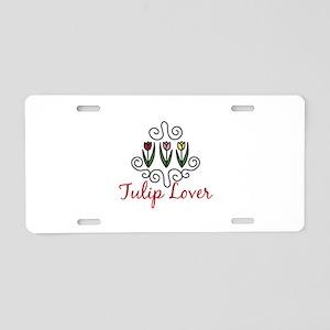 Tulip Lover Aluminum License Plate