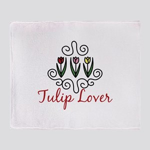 Tulip Lover Throw Blanket