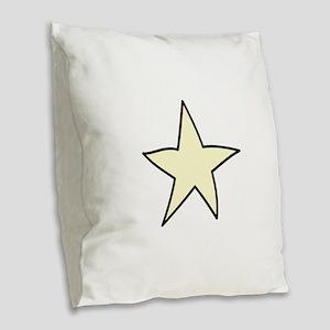 Star Burlap Throw Pillow