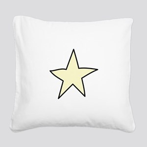 Star Square Canvas Pillow