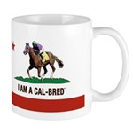 I AM A CAL-BRED with Logo Mugs