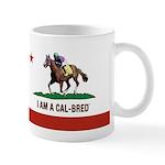 I AM A CAL-BRED with Logo Mugs