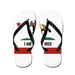 I AM A CAL-BRED with Logo Flip Flops