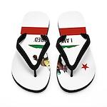 I AM A CAL-BRED with Logo Flip Flops