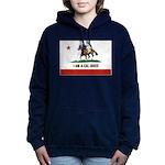 I AM A CAL-BRED with Logo Women's Hooded Sweatshir