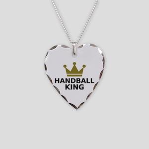 Handball king Necklace Heart Charm
