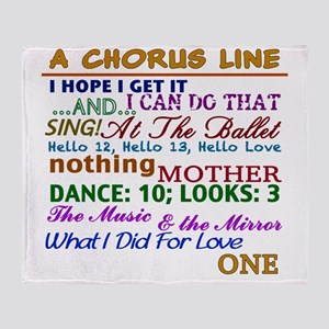 A Chorus Line The Songs Throw Blanket