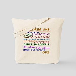 A Chorus Line The Songs Tote Bag