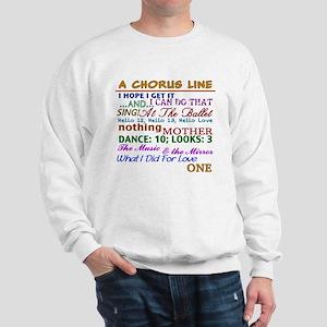 A Chorus Line The Songs Sweatshirt