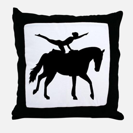 Vaulting horse Throw Pillow