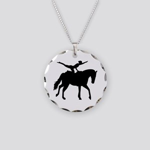Vaulting horse Necklace Circle Charm