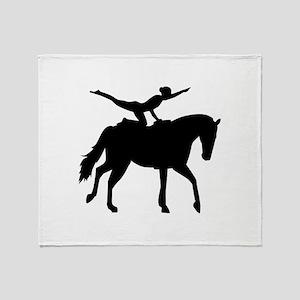 Vaulting horse Throw Blanket