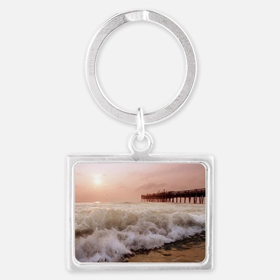 Little Island Waves  Landscape Keychain