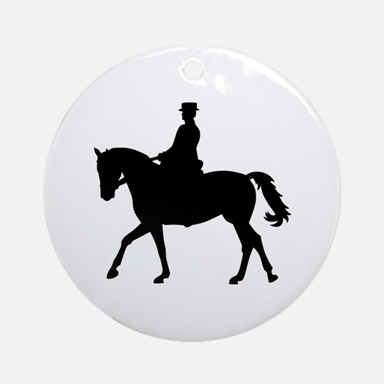 Riding dressage Ornament (Round)