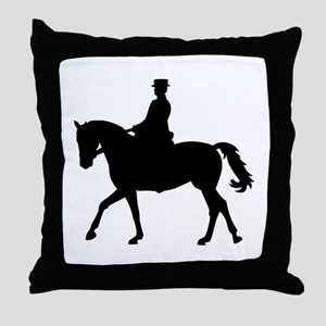 Riding dressage Throw Pillow