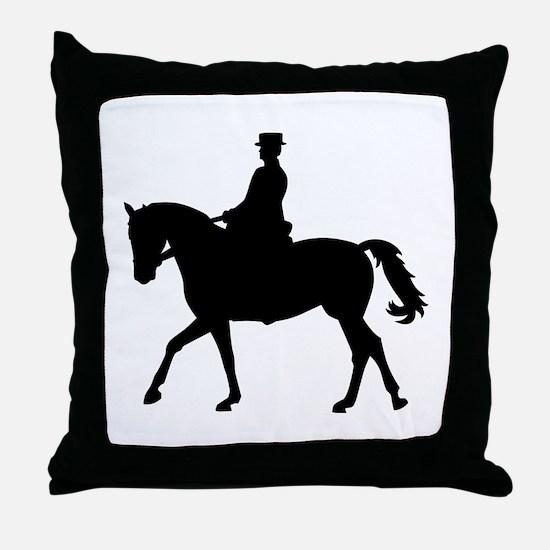 Riding dressage Throw Pillow