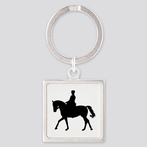 Riding dressage Square Keychain