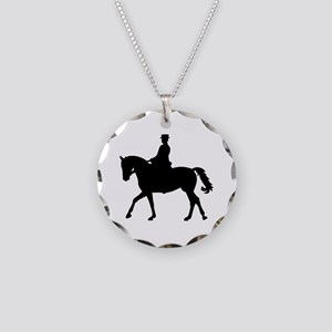 Riding dressage Necklace Circle Charm