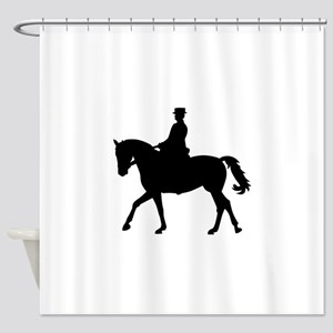 Riding dressage Shower Curtain