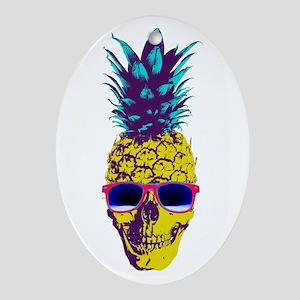 Pineapple Skull Ornament (Oval)