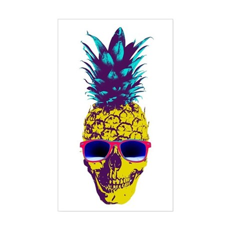 pineapple skull stickers by hilariousdelusions. Black Bedroom Furniture Sets. Home Design Ideas