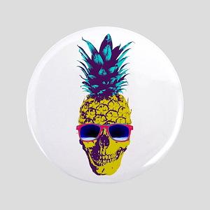 """Pineapple Skull 3.5"""" Button"""