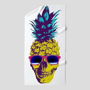 Pineapple Skull Beach Towel