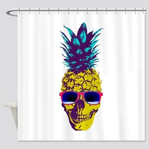 Pineapple Skull Shower Curtain
