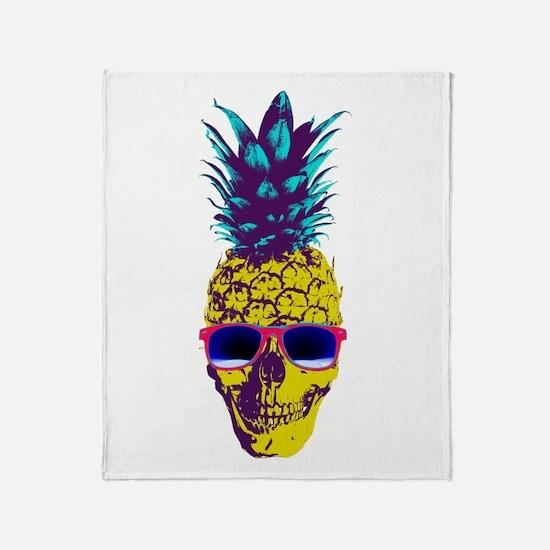 Pineapple Skull Throw Blanket
