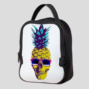 Pineapple Skull Neoprene Lunch Bag