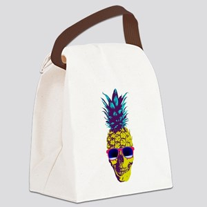 Pineapple Skull Canvas Lunch Bag