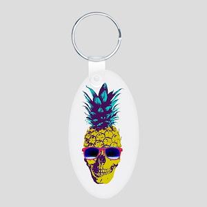 Pineapple Skull Keychains