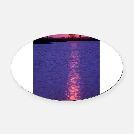 Unique Cecelia Oval Car Magnet