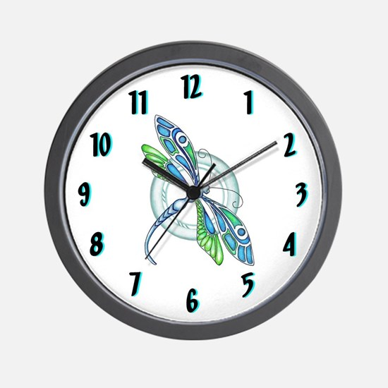 Decorative Dragonfly Clock Design Wall Clock