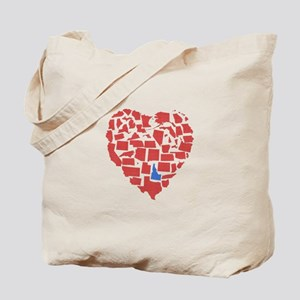 Idaho Heart Tote Bag