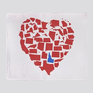 Idaho Heart Throw Blanket
