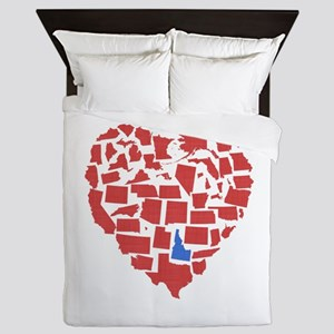 Idaho Heart Queen Duvet