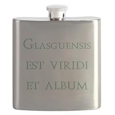 Glasgows green and white latin Flask