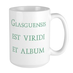 Glasgows green and white latin Mugs