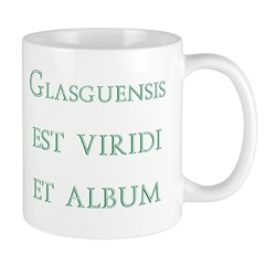 Glasgows green and white latin Mugs