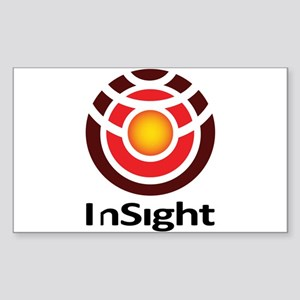 InSight to Mars! Sticker (Rectangle)