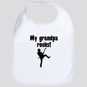My Grandpa Rocks Bib
