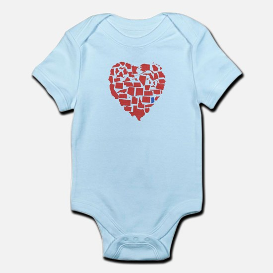 Indiana Heart Infant Bodysuit