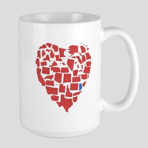 Indiana Heart Large Mug