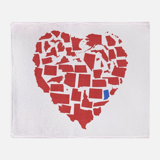 Indiana Heart Throw Blanket
