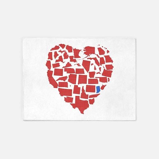 Indiana Heart 5'x7'Area Rug