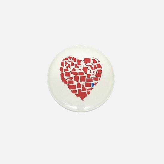Indiana Heart Mini Button