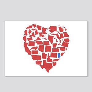 Indiana Heart Postcards (Package of 8)