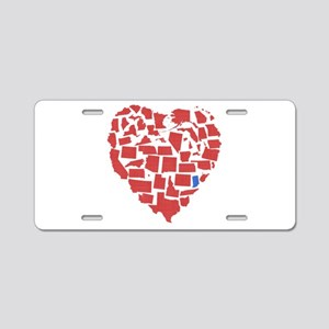 Indiana Heart Aluminum License Plate