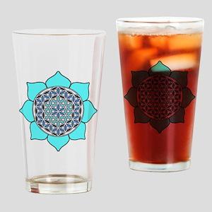 Lotus Blue2 Drinking Glass